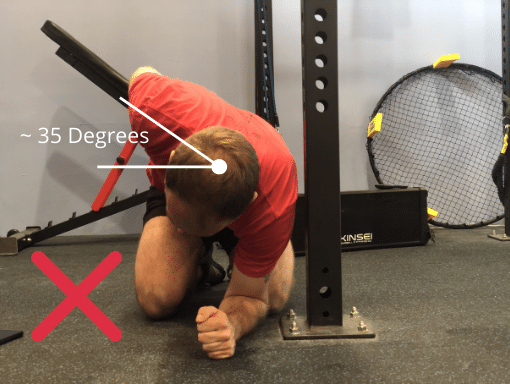 A failed Thoracic Mobility Assessment.