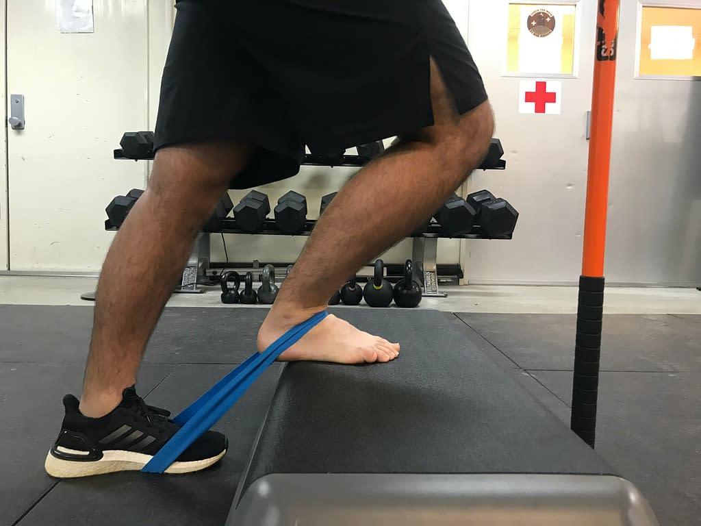 banded ankle mobilization end position