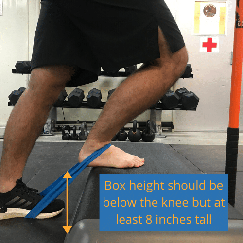 Box height plays an important or on the direction of pull during the banded ankle mobilization